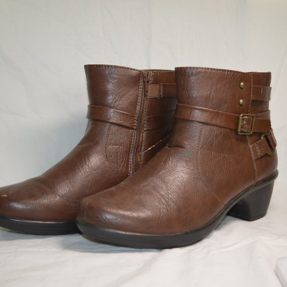 Brown Ankle Boot with Hardware
